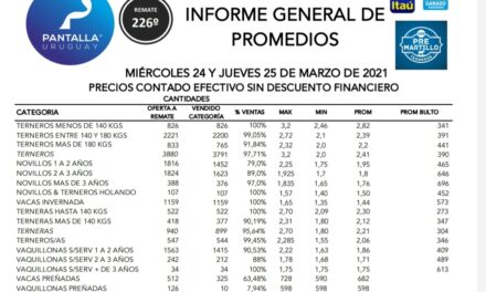 Pantalla Uruguay vendió el 91,2% de la oferta