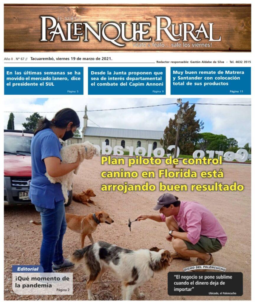 imagen de la tapa de el palenque rural : semanario