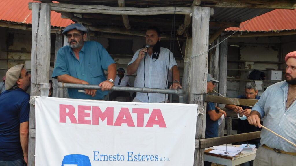 imagen de Fernando Pagalday en la tribuna del rematador en zapará