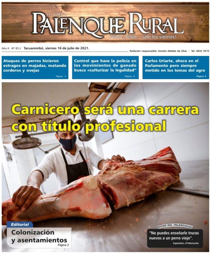 imagen de la tapa de el palenque rural: carnicero será una carrera